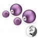 """Hopeiset BB-korvakorut """"Purple"""""""