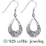 """Hopeiset Keltti Korvakorut """"Round Celtic Knot Silver Earrings"""""""