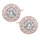 "Hopeakorvakorut ""Elegant Rosegold Round Earrings"""