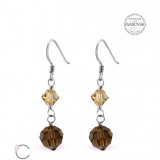"Hopeiset korvakorut ""Silver Round Earrings with Crystal From Swarovski®"""