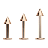 "Huulikoru ""Rose Gold Pvd Surgical Steel Cones Labret"""