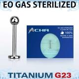 """Sterile Titanium Grade 23 """"Labret"""" 1,2 mm"""