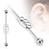 316L Surgical Steel Brassknuckle Industrial Barbell