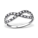 "Hopeasormus Zirkoneilla ""Infinity Ring with Cubic Zirconia"""