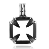 "Heavy Steel Jewelry-Riipus ""Plain Iron Cross Biker Pendant"""
