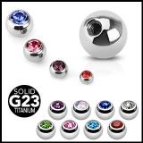 """4kpl Irtopalloja 1,2 mm """"4 Pcs Value Pack of Titanium Gem Balls"""""""