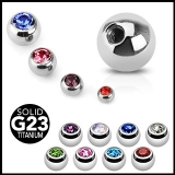 "4kpl Irtopalloja 1,6 mm ""4 Pcs Value Pack of Titanium Gem Balls"""