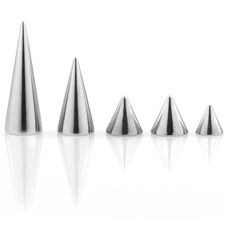 "5kpl Irtopiikkejä 1,6 mm ""5 Pcs Value Pack of 316L Surgical Stainless Steel Spike"""