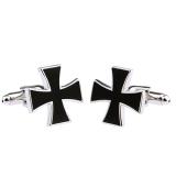 """Stainless Steel Kalvosinnapit """"Black Iron Cross"""""""