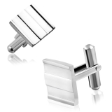 "Stainless Steel Kalvosinnapit ""Stainless Steel Square Cufflinks"""