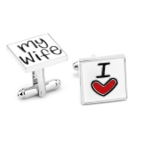 "Stainless Steel Kalvosinnapit ""I Love My Wife"""
