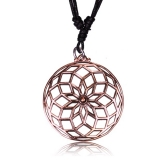 "Kaulakoru Bronze and Copper Collection ""Rose bronze geometric Flower"""