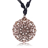"Kaulakoru Bronze and Copper Collection ""Rose bronze geometric"""