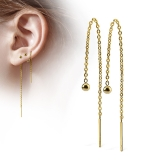 "Ketjukorvakorut ""Free Falling Ball 3 mm Gold"""