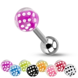 6 Pcs Value Pack of Dice Inside 316L Surgical Steel Barbell