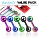 "5 kpl Kielikorupaketti ""Color IP Over 316L Stainless Steel Barbells"""