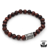 "Northern Viking Jewelry-Rannekoru ""Tiger Eye Knotwork"""