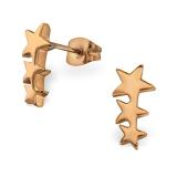 """Tähtikorvakorut """"Rosegold 3 Stars"""""""