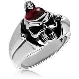 "Kool Katana-Sormus ""Ring With Garnet Skull"""