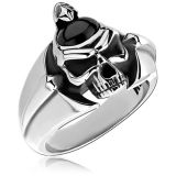 "Kool Katana-Sormus ""Ring With Onyx Skull"""