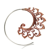 "Korvakorut ""Copper / Steel Flower Spiral"""