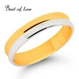 Beat of Love -kihlasormus 4mm kelta-/valkokultaa (KV213-4)