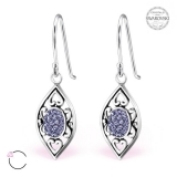 "Hopeiset korvakorut ""La Crystale Swarovski® Silver Marquise Earrings"""