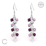 "Hopeiset korvakorut ""La Crystale Swarovski® Silver Chandelier Earrings"""