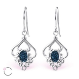 "Hopeiset korvakorut ""La Crystale Swarovski® Silver Flower Montana Earrings"""