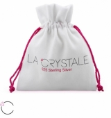 "Hopeiset korvakorut ""La Crystale Swarovski® Silver Heart Crystal Earrings"""
