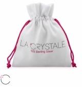 """Hopeiset korvakorut """"La Crystale Swarovski® Silver Oval Fuchsia Earrings"""""""