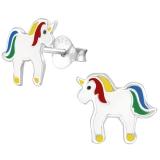 """Hopeiset Lasten Korvakorut """"Rainbow Unicorn Ear Studs"""""""