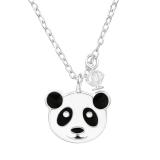 """Hopeinen Lasten Kaulakoru """"Kristalli Panda"""""""