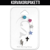 "Korvakorupaketti 3 paria ""Children's Silver Mixed Ear Stud Set"""