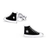 """Hopeiset Lasten Korvakorut """"Black Star Sneaker"""""""