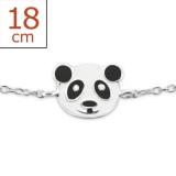 "Lasten Hopeinen Rannekoru ""Panda"""