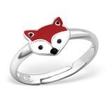 "Lasten Hopeasormus ""Silver Fox Ring Adjustable"""