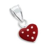 "Hopeinen Lasten Riipus ""Red Heart pendant"""