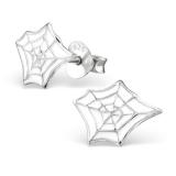 "Hopeiset Lasten Korvakorut ""Silver Spider Web"""