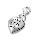 "Hopeinen keräilykoru ""Live, Love, Laugh Charm With Lobster"""