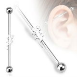 Lizard Industrial Barbell 316L Surgical Steel