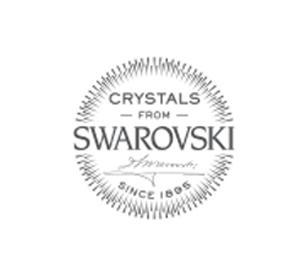 "Swarovski®-Kaulakoru ""Square-Riipus Bermuda Blue"""