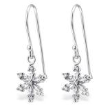"Hopeiset Korvakorut ""Crystal Silver Snowflake Earrings"""