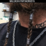 "Northern Viking Jewelry-Partakoru ""Long Rune Beard Ring"""