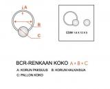 "Rengas BCR 6 mm ""Blacksteel"""