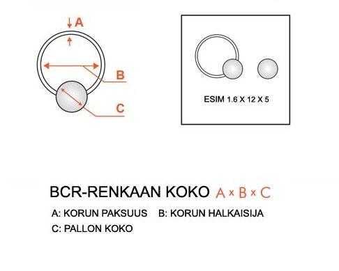 Rengas BCR 1,6 mm Titaani (Grade 23)