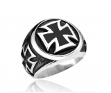 "Heavy Steel Jewelry-Sormus ""Black Iron Cross Ring"""