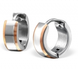 "Kirurginteräs korvakoru ""Rosegold Steel Matte Finish Huggie Earrings"""