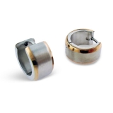 "Kirurginteräs korvakoru ""Gold Steel Matte Finish Huggie Earrings"""
