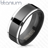 "Titaanisormus ""Two Tone Ring Solid Titanium"""